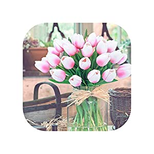 Sweetlove 11Pcs/Lot Tulip Artificial Flower 2019 Real Touch Pu Wedding Flowers Home Decor Bouquet Fake Decorative Flowers 77