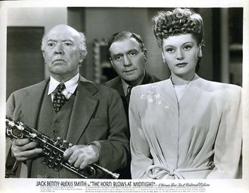"""Jack Benny Alexis Smith The Horn Blows At Midnight Original 8x10"""" Photo #J2497"""