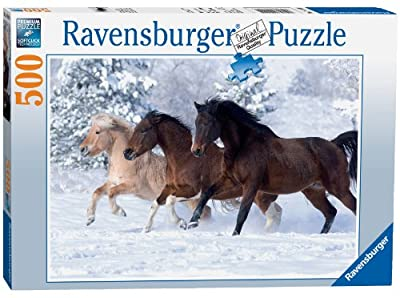 Ravensburger Gallop in the Snow 500pc Jigsaw Puzzle