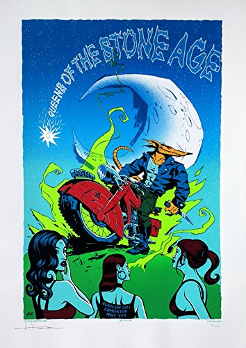 Queens of The Stone Age Concert Poster Justin Hampton Signed Edmonton 2008