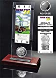 "NFL Dallas Cowboys Super Bowl 12 Ticket & Game Coin Collection, 12"" x 2"" x 5"", Black"