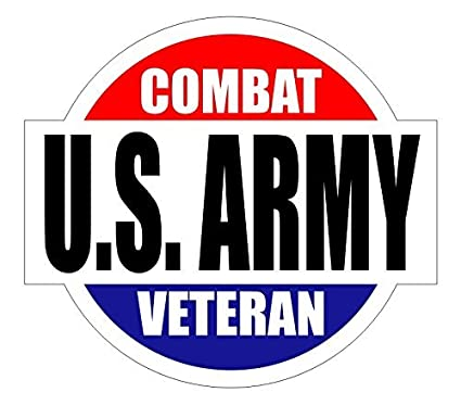 US ARMY Combat Veteran Hard Hat / Helmet Sticker Decal Label Emblem