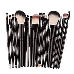 Weimay 18 Unids/Set Pinceles de Maquillaje, Pinceles de Maquillaje Profesional Eye Shadow Foundation Contour Lips Corrector Pinceles de Maquillaje Herramientas