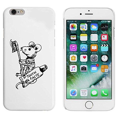 Blanc 'Souris avec Dentifrice' étui / housse pour iPhone 6 & 6s (MC00031050)