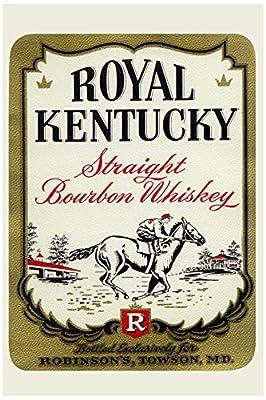 "Buyenlarge ""Royal Kentucky Straight Bourbon Whiskey"" Paper Poster, 18"" x 27"""