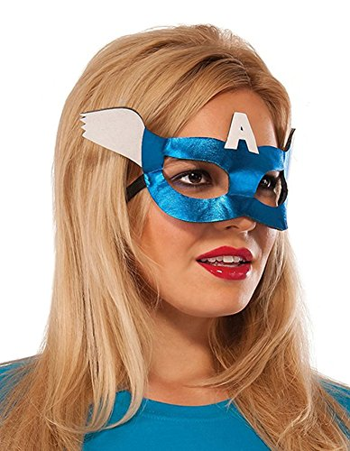Adult Mask America Captain (Rubie's Costume Co Women's Marvel Universe American Dream Eyemask, Multi, One)
