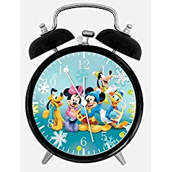 Disney Mickey and Minnie Alarm Desk Clock 3.75 Room Decor E12 Will Be a Nice Gift