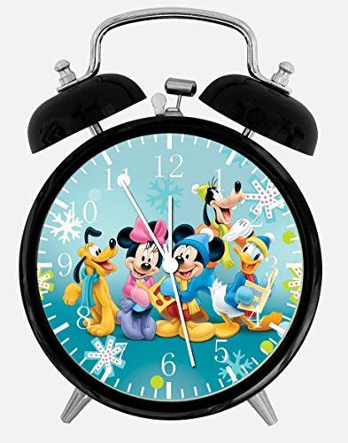 - Mickey Mouse Minnie Mouse Twin Bells Alarm Desk Clock 4