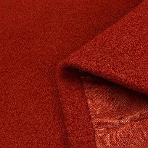 Mujer De Grandes XL Largos Rompevientos Chaquetas Rojo Oversize Bolsillos Suelto Fiesta youth® Señora K Abrigos Elegantes Tallas Originales Outcoat qtEx1fRXwC