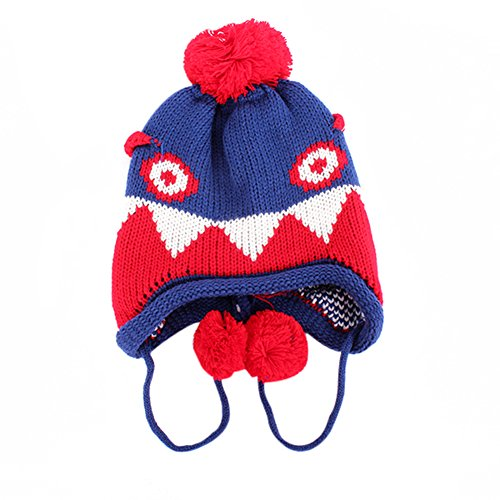 Luxsea Winter Infant Handmade Dinosaur Crochet Earflap Hat Knit Beanie Cap Child