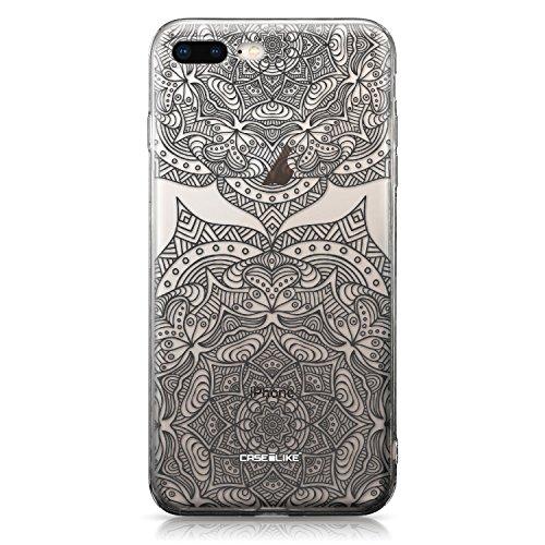 CASEiLIKE Funda iPhone 7 , Carcasa Apple iPhone 7, París vacaciones 3904, TPU Gel silicone protectora cover Arte de la mandala 2304