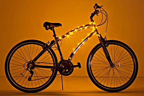 Brightz CosmicBrightz LED Bicycle Frame Light, Gold