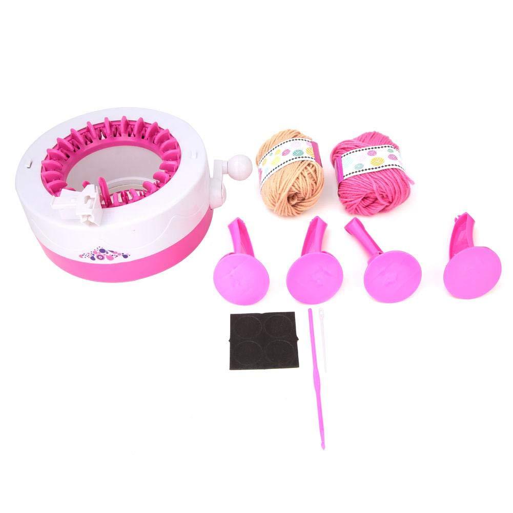 Hand Knitting Machine 22 Needles DIY Weaving Looms Adult Children Knitting Machine Kit Bracket Mounting Hand Shake Round Kit Machine with Counting Circle Function