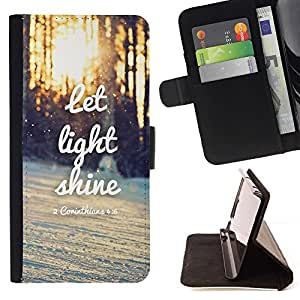 For Samsung Galaxy S5 Mini (Not S5), SM-G800 Case , Shine Light Sunset Cita invernal al sol- la tarjeta de Crédito Slots PU Funda de cuero Monedero caso cubierta de piel
