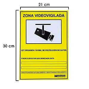 Wolfpack cartel zona videovigilada 30x21 - Cartel zona videovigilada ...