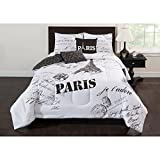 Paris 5 Piece Bedding Comforter Set - FULL Size