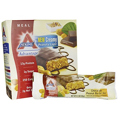 Atkins Advantage Chocolate Peanut Butter Bar 5/2.1 oz (60 grams) Bar(S)