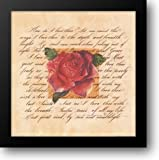 How Do I Love Thee? 16x16 Framed Art Print by Hutchinson, Linda