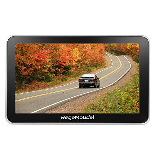Car GPS Navigation, RegeMoudal 7 Inch Vehicle GPS Navigation for Car System 8G Memory Portable Truck Navigator Touch Screen Multimedia Pre-Installed US Lifetime Maps (Model 2) (Black) ()