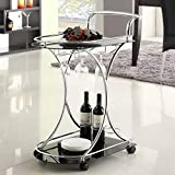 LYKE Home Contemporary Wine Cart