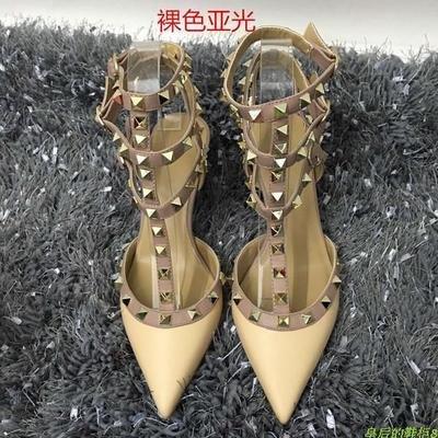 Straps color nude de con de tacón 5cm Zapatos 9 bajo VIVIOO Tacones Sandalias T Tacones Sandalias Remaches punta altos B de tacón alto uñas wWBApPq1