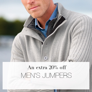 An Extra 20% off Men's Jumpers