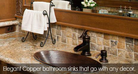 elegant Premier Copper Products bath sinks