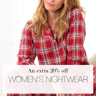 An Extra 20% off Womens Nightwear