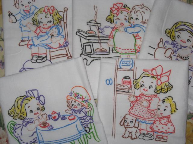 Yesterday's Charm Kitchen Grace Designs on Tea Towels
