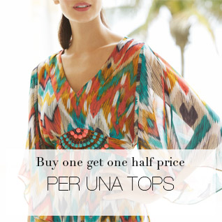 buy one get one half price per una tops & T-shirts
