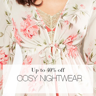 up to 40% off cosy women's nightwear