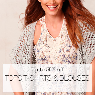 Tops, T-shirts & blouses up to 50% off