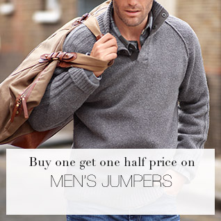 Buy one get one half price on Men's Jumpers