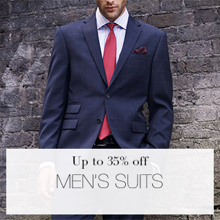 Up to 35% off men's suits