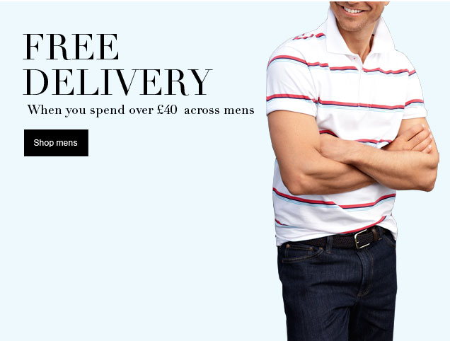 Free standard delivery when you spend £40