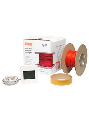 Underfloor heating cable kit