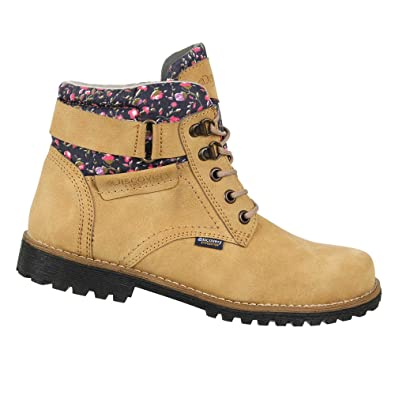 Women's Ankle High Outdoor Boot w/Fashion Patterened Trim