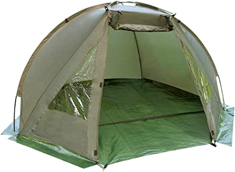 Carp Fishing Bivvy Tent Shelter | 1 2 Man Quick Erect Lightweight Waterproof Day Shelter | Includes Groundsheet & Carry Bag | Pukkr