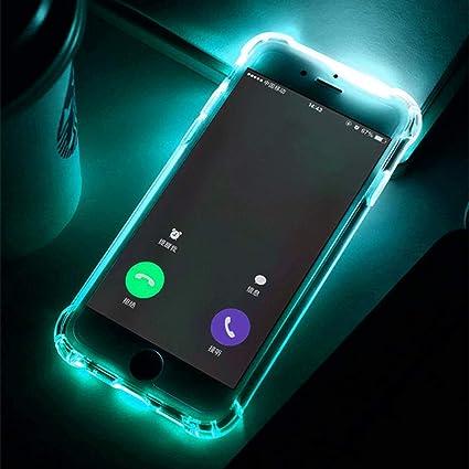 fdsgh Etui pour téléphone Portable Coque TPU Flash LED pour iPhone ...