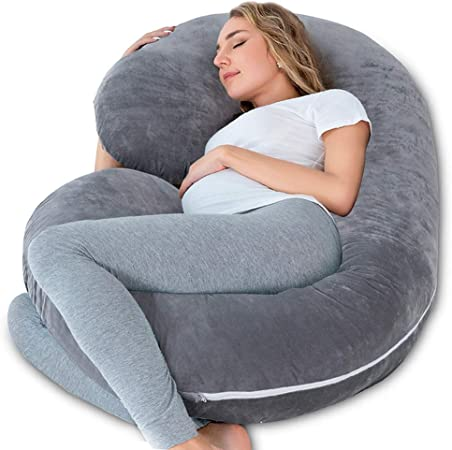 INSEN Pregnancy Pillow,Maternity Body Pillow with Velour