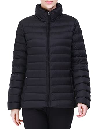 puredown Women's lightweight Packable Goose Down Jacket at Amazon ...
