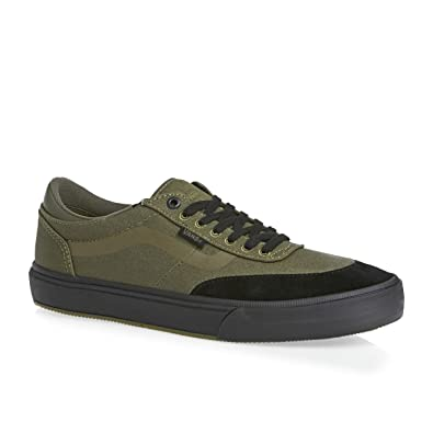 vans shoes black and green