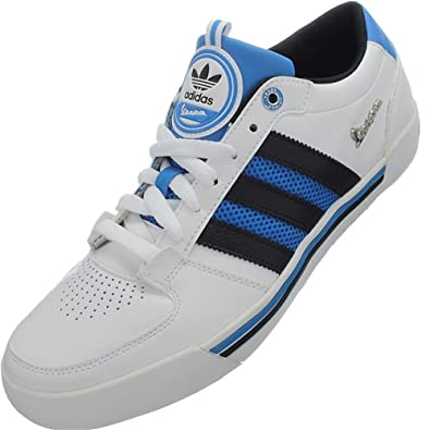 Adidas VESPA LX LO Chaussures Mode Sneakers Homme Cuir Blanc Noir Bleu Adidas T:46