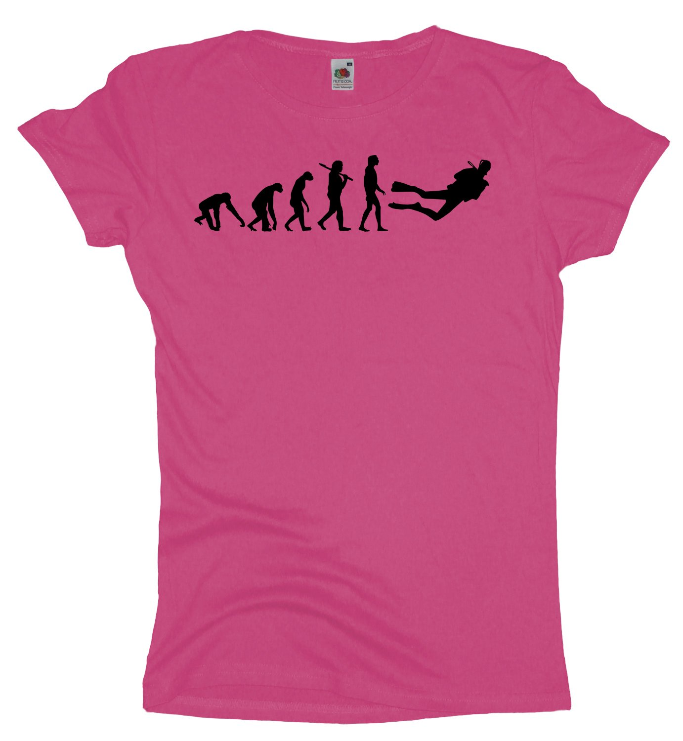Ma2ca - Evolution - Taucher Diving - Damen Girlie T-Shirt: Amazon.de:  Bekleidung