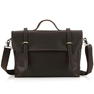 Amazon.com | FlyHawk best Italy Genuine Leather Man Briefcase ...