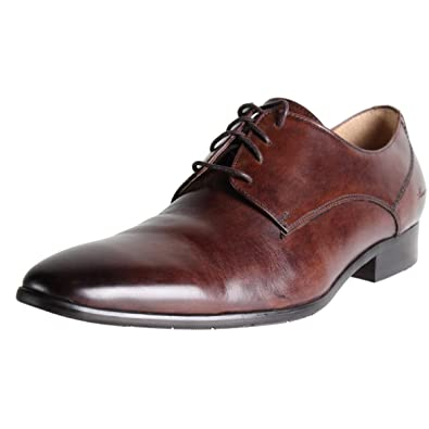 Kenneth Cole New York Mens Just-Afiable Leather Plain Toe Derby Shoes