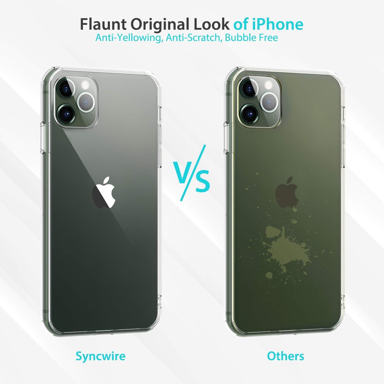 Coque iPhone 11 Pro Max TransparenteHousse Etui iPhone 11 Pro Max 6.5 Case Dos Rigide en PCBumper Renforcé en Silicone Absorption