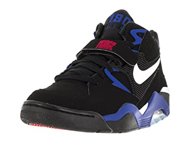 Men's Nike Air Force 180 Mid Basketball Shoes | | WhiteHyper RedBlue