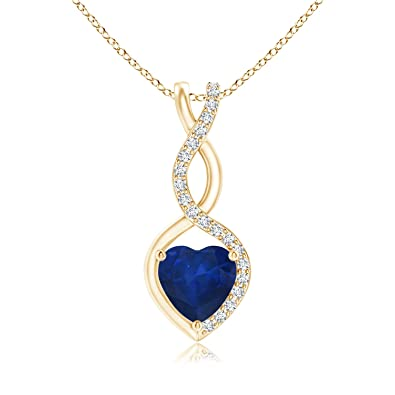 Angara Floating Sapphire Pendant in White Gold aZzWo3TrI