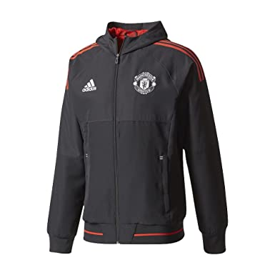 adidas Manchester United Presentation Jacket Black | adidas UK